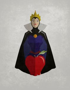 Simple Retro Snow White Poster of The Evil Queen