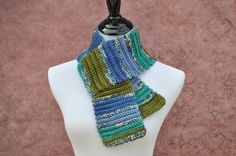 Handmade Infinity Scarf Blue Green Purple by BellaHenryBoutique #scarf #handmade #gifts #outerwear #winterwear #crochet #giftsforher