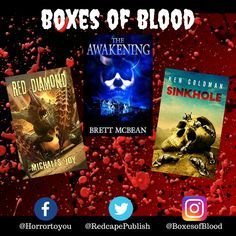 Hand-picked horror, delivered to your door. Featuring the best independent and small-press horror writers working today. Horror Books, Work Today, Writers, Badge, Blood, Boxes, Product Launch, Joy, Movie Posters