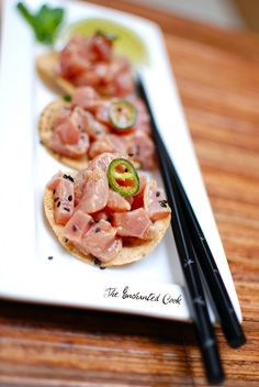 Ahi Tuna Ceviche      When I was in Las Vegas at The Palazzo last week, we ate at Dos Caminos (actually we ate there 3 times) and tuna cev...