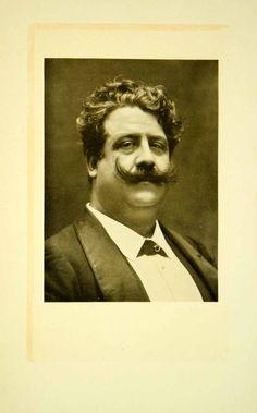 1908 Print Ruggero Leoncavallo Portrait Opera Music Composer Pagliacci XMG3