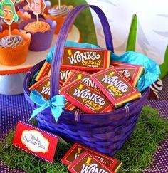 Willy Wonka Party- cesto