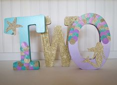 Mermaid Under the Sea Birthday Free Standing Letters//Free