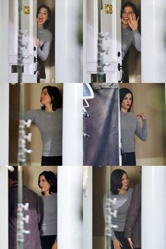 ♥ Lana Parrilla being absolutely adorable, while filming episode 3x09 (October 22, 2013) ♥