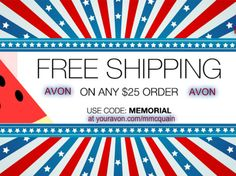 Free shipping with any $25.00 purchase!