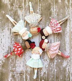 :: Crafty :: Cloth Doll :: 2 :: SpunCandy Handmade Dolls #winterberrylanecollection #clothdolls