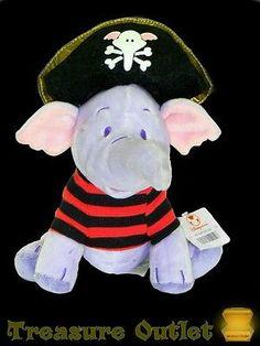 Disney Store Stuffed Plush Winnie The Pooh Heffalump Lumpy Dressed As Pirate 7in