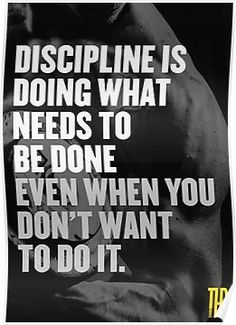 'Discipline is doing what needs to be done even when you don't want to do it.' Poster by trainhardr Discipline is doing what needs to be done even when you don't want to do it. Practical Parenting, Parenting Goals, Gentle Parenting, Parenting Articles, Parenting Ideas, Discipline Quotes, Positive Discipline, Wisdom Quotes, Life Quotes