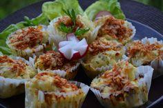 Sonkás karfiol muffin