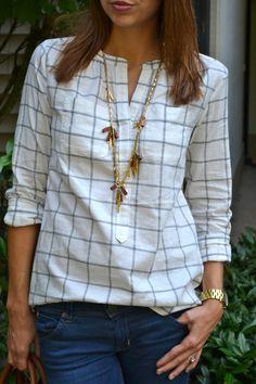 Grid Shirt | Fishbowl fashion