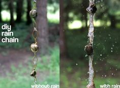 DIY Rain chains - check out website for different ideas