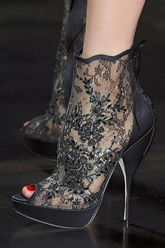 christian dior 2010 fallslideshow on Stylehive. Shop for recommended christian dior 2010 fallslideshow by Stylehive stylish members. Get real-time updates on your favorite christian dior 2010 fallslideshow style. Lace Booties, Bootie Boots, Shoe Boots, Shoes Heels, Lace Heels, Dior Shoes, Crazy Shoes, Me Too Shoes, Stiletto Heels