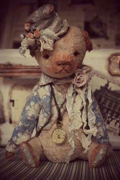 .?. Teddy Bear Hug, Steiff Teddy Bear, Cute Teddy Bears, Bear Hugs, Color Limon, Charlie Bears, Fabric Animals, Vintage Teddy Bears, Reborn