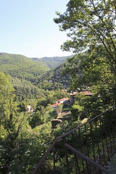 The village from the terrace of La Muse Terrace, Muse, Places To Visit, France, River, Mountains, Artist, Outdoor, Balcony