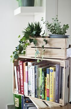 Make your indoor plants and herbs portable by growing them in old crates | #IKEAIDEAS
