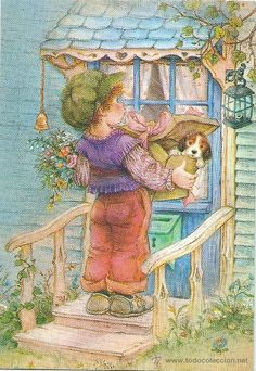 My Lisi Martin cards, children,not for trade Sarah Kay, Vintage Pictures, Vintage Images, Vintage Art, Ecole Art, Spanish Artists, Holly Hobbie, Pretty Art, Cute Illustration