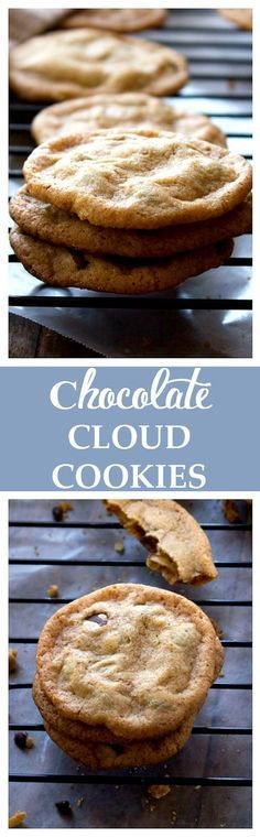 Chocolate Cloud Cookies - Light, airy and chewy with chocolate in every bite. Get the recipe on diethood.com