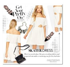 """Asos Skater Dress"" by sweetestdreamer ❤ liked on Polyvore"