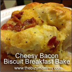 Cheesy Bacon Biscuit Breakfast Bake - Southern Girl Ramblings
