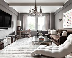 eclectic gray living room with touches of chrome luxury furniture, Exclusive Design, Designer Furniture, Interior Design, Best decor, Decorating secrets, entrance hall,living area. get inspired on: http://www.bocadolobo.com/en/inspiration-and-ideas/