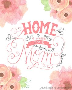 Pretty FREE Printable Hand-Lettered Mother's Day Cards via LollyJane - The BEST Easy DIY Mother's Day Gifts and Treats Ideas - Holiday Craft Activity Projects, Free Printables and Favorite Brunch Desserts Recipes for Moms and Grandmas Easy Diy Mother's Day Gifts, Diy Mothers Day Gifts, Mother's Day Diy, Mothers Love, Mother's Day Printables, Printable Cards, Happy Mother Day Quotes, Happy Mothers Day, Mothers Day Post