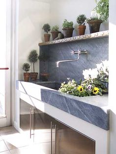 55 Utility Sink Renovation For Mudroom – Farmhouse Room - Modern Soapstone Counters, Kitchen Countertops, Granite, Veranda Design, Outdoor Sinks, Outdoor Garden Sink, Outdoor Greenhouse, Outdoor Showers, Outdoor Kitchens