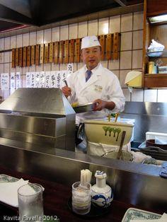 Tempura restaurant in Tokyo, Japan