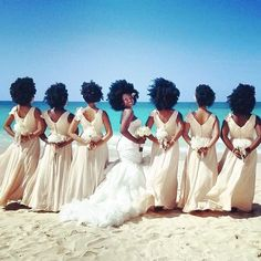 This bridal party is absolutely afro-licious!!! Big love to #natural bride Nakyia and best wishes!!!    . . . #naturalhair #naturalbride #bride #love #fun