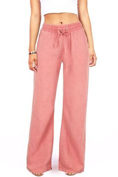 Most Popular Linen Pants and Dress Pants Of 2019 Wide Leg Linen Pants, Linen Trousers, Linen Beach Pants, Linen Pants Outfit, Dress Pants, Girls Pants, Pants For Women, Linen Drawstring Pants, Drawstring Waist