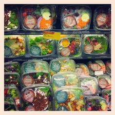Whole Foods salads...if only I had the money to shop here all of the time!