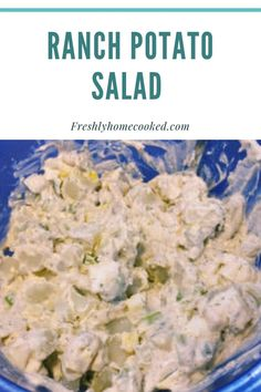 Creamy potato salad with ranch dressing. Ranch Potato Salad, Creamy Potato Salad, Parsley Potatoes, Russet Potatoes, Summer Side Dishes, Group Meals, Ranch Dressing, Amazing Recipes, Side Dish Recipes