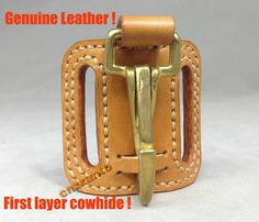 Handmade Leather & brass snap hook easy release Key chain ring Belt Clip holder in Business & Industrial, MRO & Industrial Supply, Safety & Security | eBay