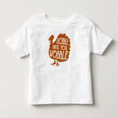 Kids Gobble Til You Wobble Thanksgiving T-Shirt - kids kid child gift idea diy personalize design
