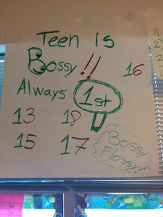 Number with teens