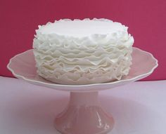 How beautiful is this white cake from Rock Bakehouse