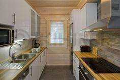 Модель Ilves 1457 #Ikihirsi дом из финского бруса #кухня