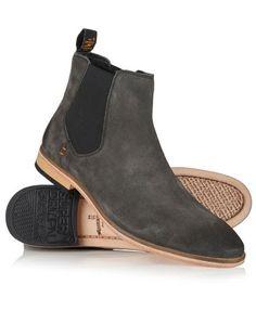 Superdry Meteor Chelsea Boots Dark Grey- $99