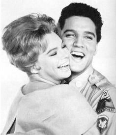 """Elvis Presley and co-star, Juliet Prowse during Publicity Shoot for """"G.I. Blues"""" 1960"""