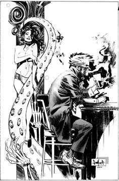Hellblazer: City of Demons Cover By Artist Sean Gordon Murphy - W. Comic Book Artists, Comic Artist, Comic Books Art, Illustrations, Illustration Art, Art Sketches, Art Drawings, Comic Book Layout, Tinta China