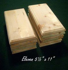 11 Piece 5.5 x 11 Crafters Unfinished Wood by ParchdashMintdotcom