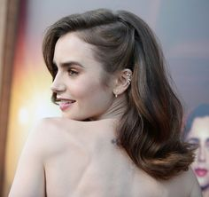 Lily Collins attending The Last Tycoon Premiere on July 2017 in Los Angeles, California. Down Hairstyles, Pretty Hairstyles, Easy Hairstyles, Wedding Hairstyles, Short Vintage Hairstyles, Red Carpet Hairstyles, Bridesmaid Hair, Prom Hair, Hair Inspo