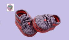 This is a video tutorial on how to crochet baby booties.