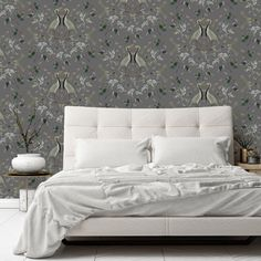 Blue Crane wallpaper in Steel grey. DM us for enquiries