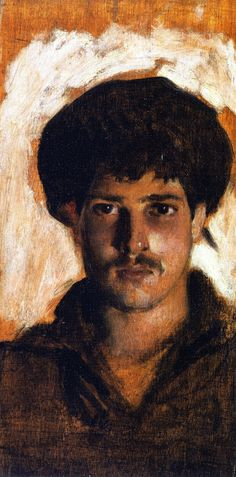 The Athenaeum - Head of a Young Man (John Singer Sargent - ) 1878