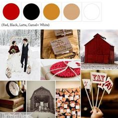My perfect palette! {Cozy Little Christmas}: A Palette of Red, Latte, Camel + White....great colors