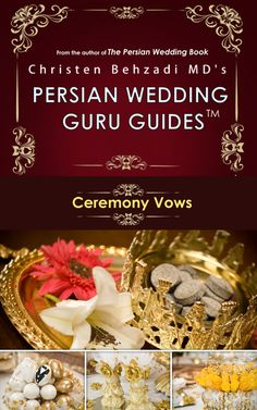 36 page guide on Persian Wedding Ceremony + Sofreh Aghd Script. Entire Ceremony Start to Finish. Available Via Digital Download @ PersianWeddingGuru.com