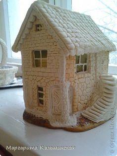 Новогодние домики из соленого теста