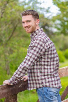 80f086058d Our Collar Shirt Mens Cotton Flannel Maroon Tartan
