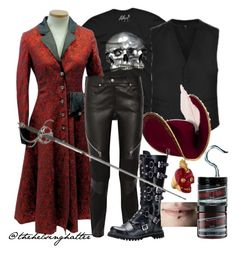 """""""""""You Insolent Child!"""" - Captain Hook's Punk Side"""" by thehelsinghatter ❤ liked on Polyvore featuring Givenchy, Alexander McQueen, Manic Panic, women's clothing, women, female, woman, misses and juniors"""