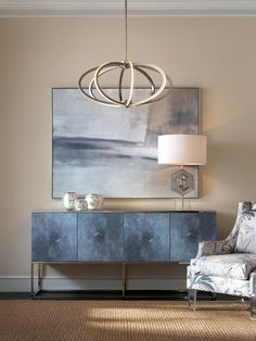 Limited Production Design & Stock: Contemporary Giclee Art Mirrored Topped Cabinet * Polished Nickel Steel Base * H: 34 L: 71 D: 18 inches * Only Few Remaining Sideboard Dekor, Buffet, Modern Furniture, Furniture Design, Moraira, Dining Room Wall Decor, Home Living, Rental Bathroom, Bathroom Wall